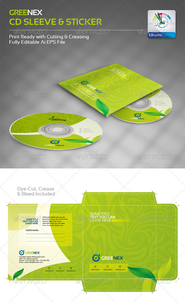 15 Creative CD and DVD Sleeve and Sticker Template Designs ...