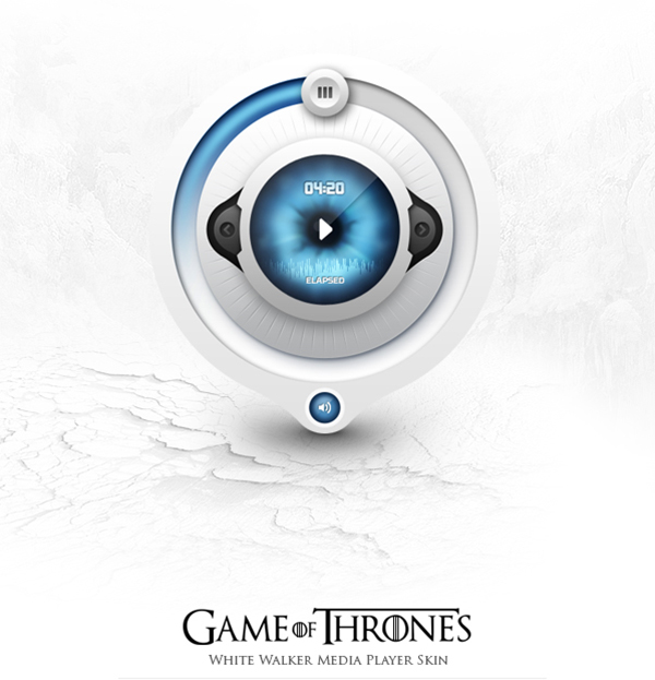 Neat and Stylish UI/UX Design: Game of Throne Media App Skin