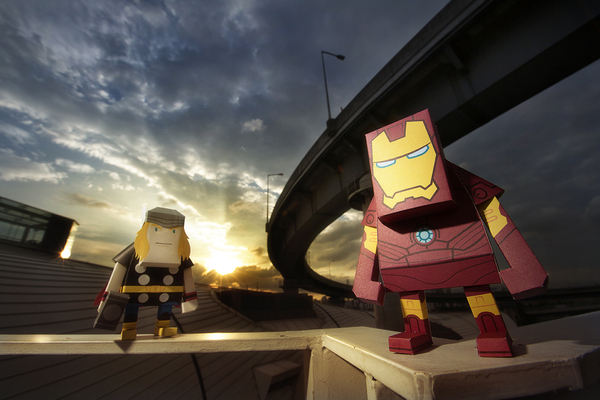 Your Favorite Marvel Superheroes Remodeled as Paper Toy