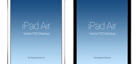 10 Free iPad Air PSD and Vector Mockup